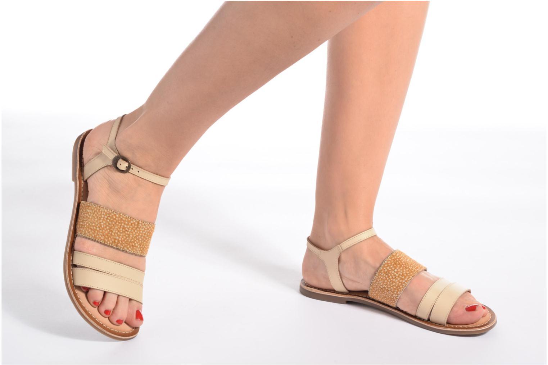 Sandales et nu-pieds Kickers Divatte Beige vue bas / vue portée sac