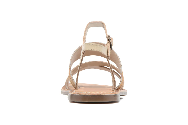 Sandales et nu-pieds Kickers Divatte Beige vue droite