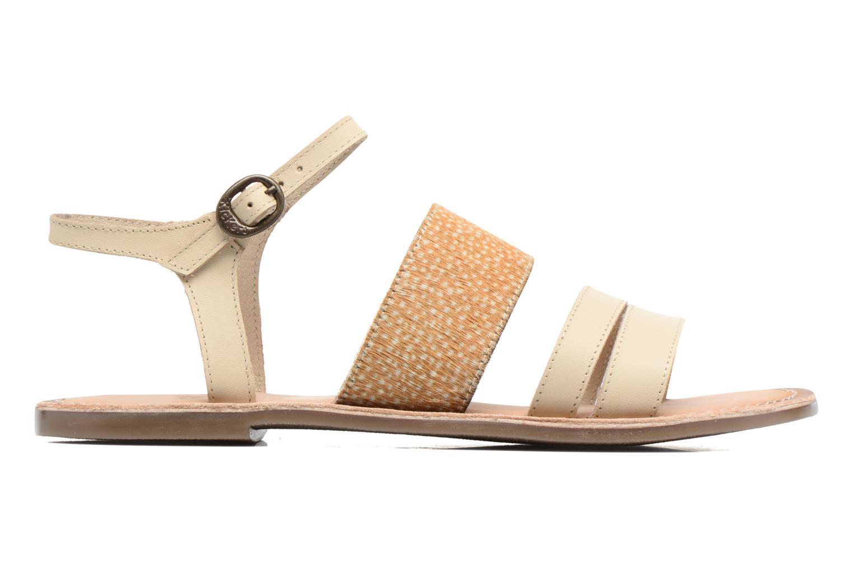 Sandales et nu-pieds Kickers Divatte Beige vue derrière