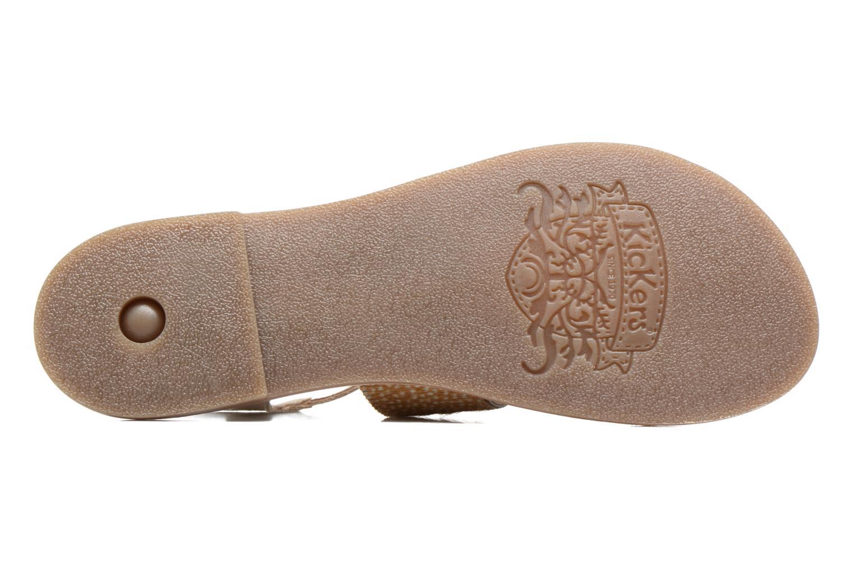 Sandales et nu-pieds Kickers Divatte Beige vue haut