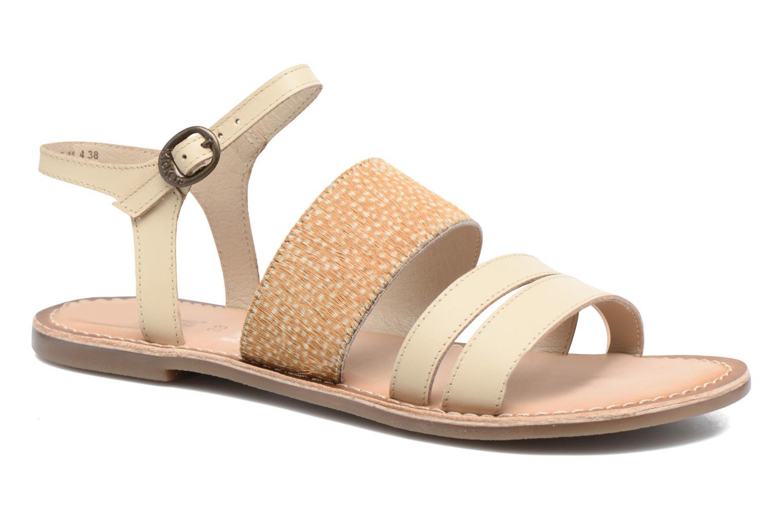 Sandales et nu-pieds Kickers Divatte Beige vue détail/paire