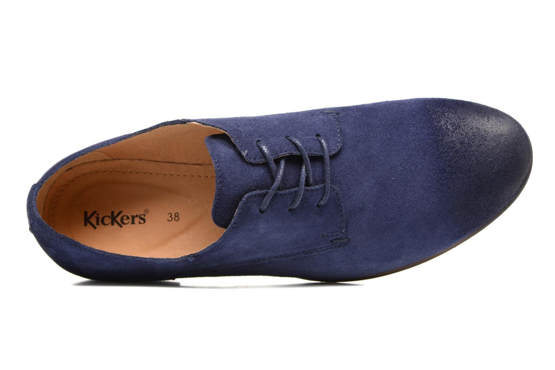 Chaussures à lacets Kickers Galla Bleu vue gauche