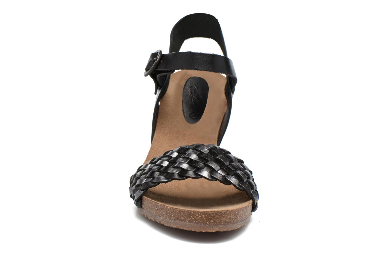 Sandales et nu-pieds Kickers Splendid Gris vue portées chaussures