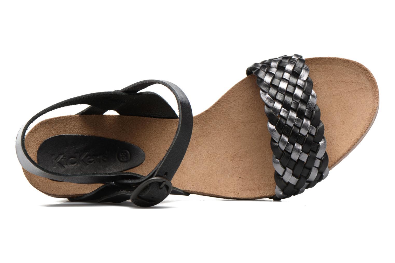 Sandales et nu-pieds Kickers Splendid Gris vue gauche