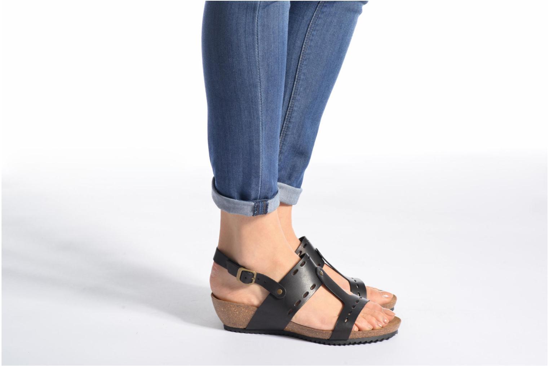 Sandales et nu-pieds Kickers Tokali Marron vue bas / vue portée sac
