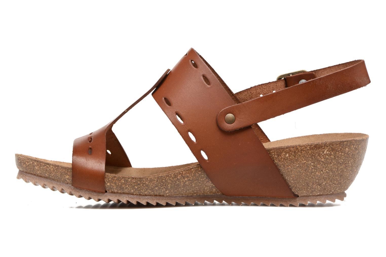 Sandales et nu-pieds Kickers Tokali Marron vue face