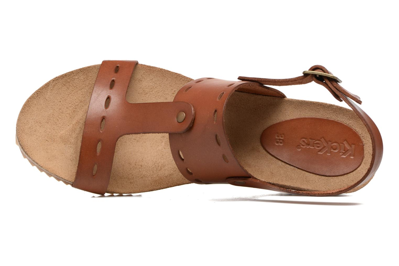 Sandales et nu-pieds Kickers Tokali Marron vue gauche