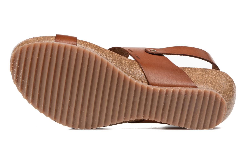 Sandales et nu-pieds Kickers Tokali Marron vue haut