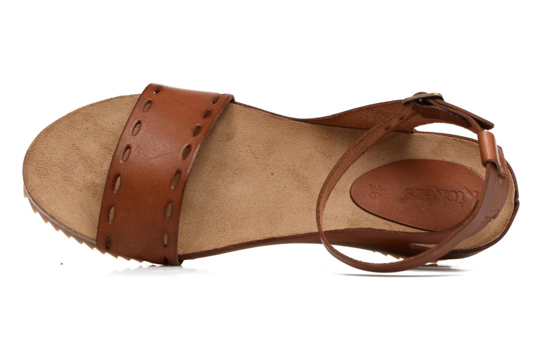 Sandales et nu-pieds Kickers Tokrom Marron vue gauche