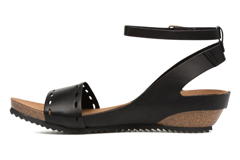 Sandales et nu-pieds Kickers Tokrom Noir vue face