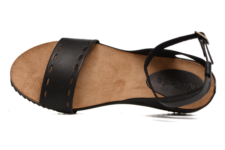 Sandales et nu-pieds Kickers Tokrom Noir vue gauche