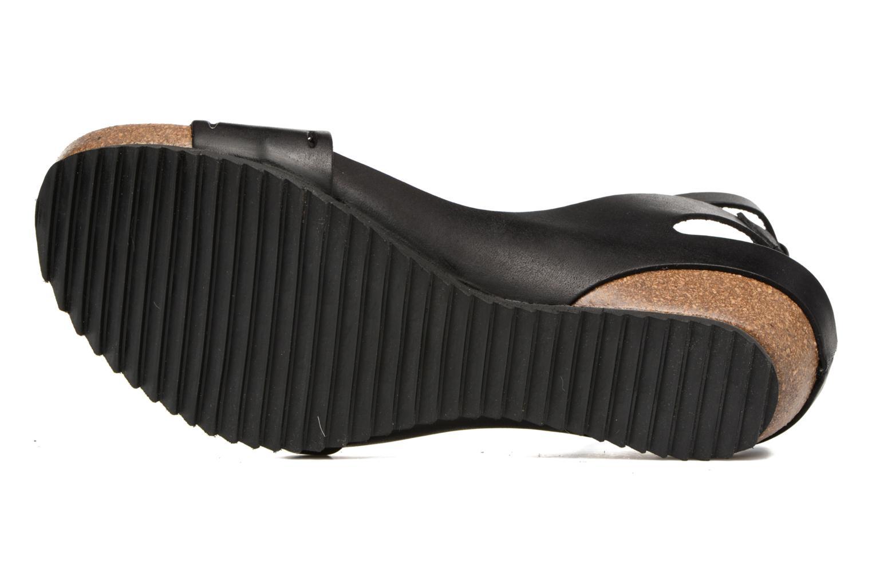 Sandales et nu-pieds Kickers Tokrom Noir vue haut