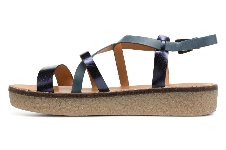 Sandali e scarpe aperte Kickers Valentina Azzurro immagine frontale