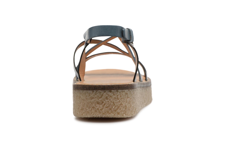 Sandales et nu-pieds Kickers Valentina Bleu vue droite
