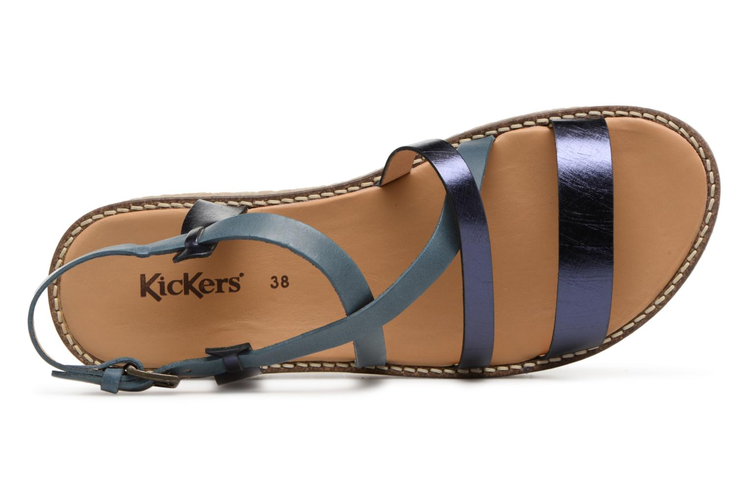 Sandalen Kickers Valentina Blauw links
