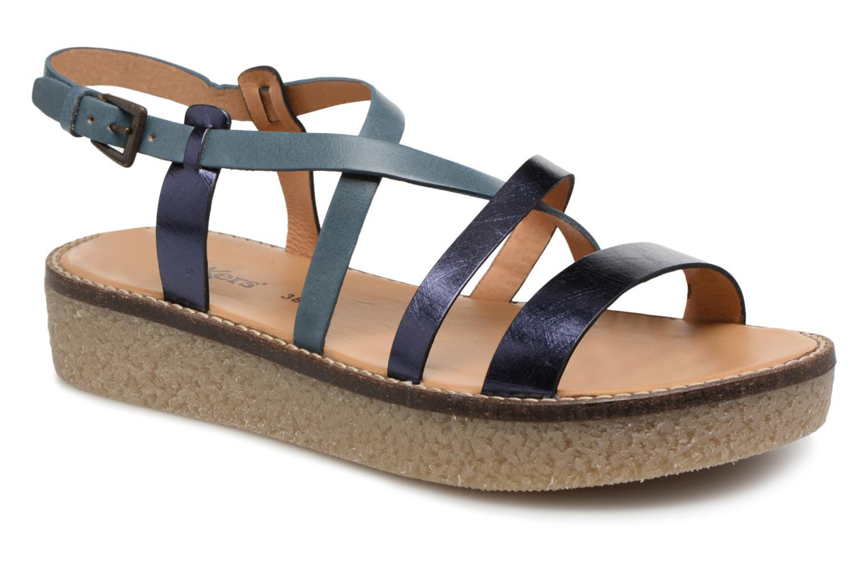 Sandales et nu-pieds Kickers Valentina Bleu vue détail/paire