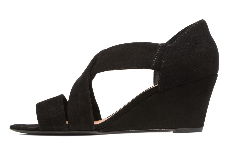Sandales et nu-pieds COSMOPARIS Vika/Vel Noir vue face