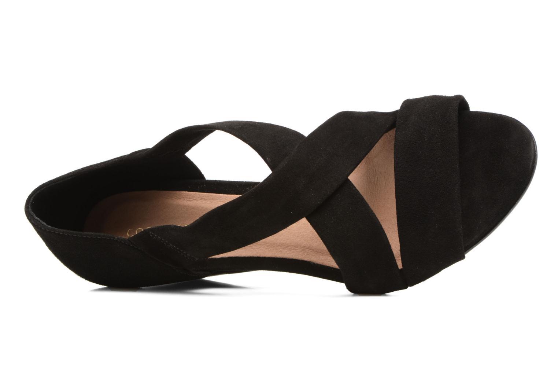 Sandalen COSMOPARIS Vika/Vel schwarz ansicht von links
