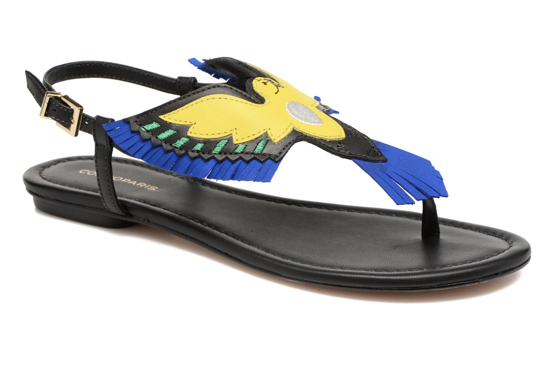 Sandales et nu-pieds COSMOPARIS Jing Noir vue détail/paire
