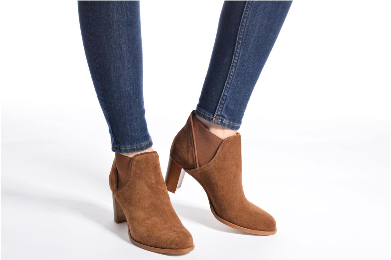 Bottines et boots COSMOPARIS Bamia/Vel Marron vue bas / vue portée sac