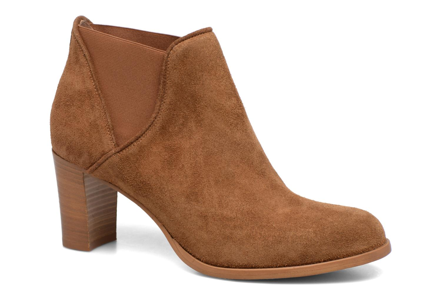 Ankle boots COSMOPARIS Bamia/Vel Brown detailed view/ Pair view