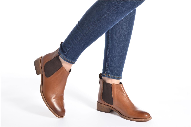 Bottines et boots COSMOPARIS Flea Marron vue bas / vue portée sac