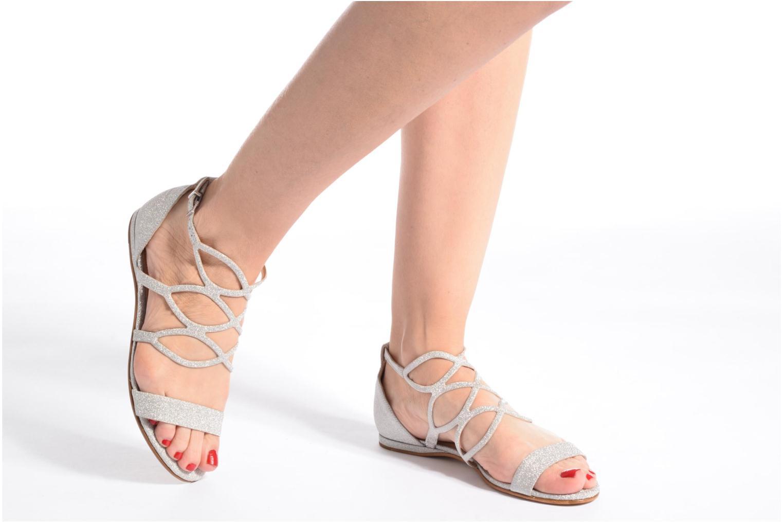 Sandalen COSMOPARIS Alinoa/Diam silber ansicht von unten / tasche getragen