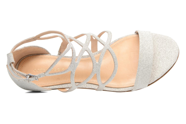 Sandals COSMOPARIS Alinoa/Diam Silver view from the left