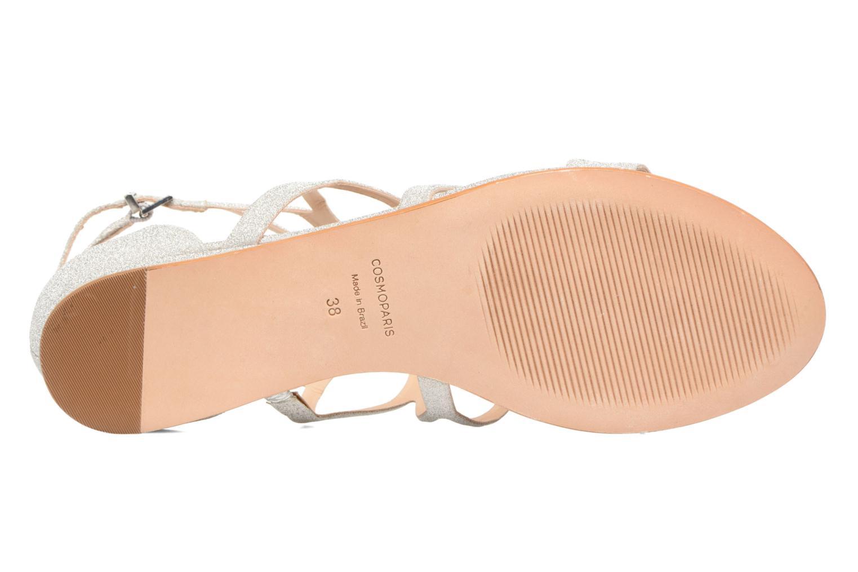 Sandales et nu-pieds COSMOPARIS Alinoa/Diam Argent vue haut