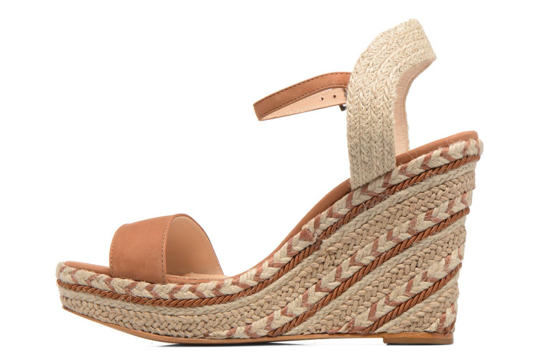 Sandalen COSMOPARIS Agaya braun ansicht von vorne