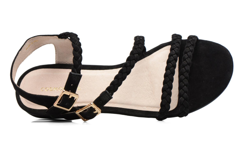 Sandales et nu-pieds COSMOPARIS Lessi Noir vue gauche