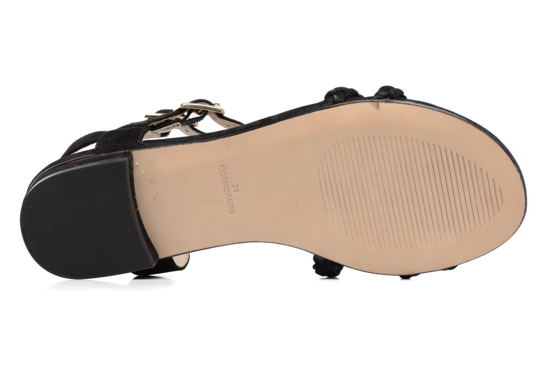 Sandales et nu-pieds COSMOPARIS Lessi Noir vue haut