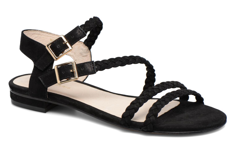 Sandals COSMOPARIS Lessi Black detailed view/ Pair view