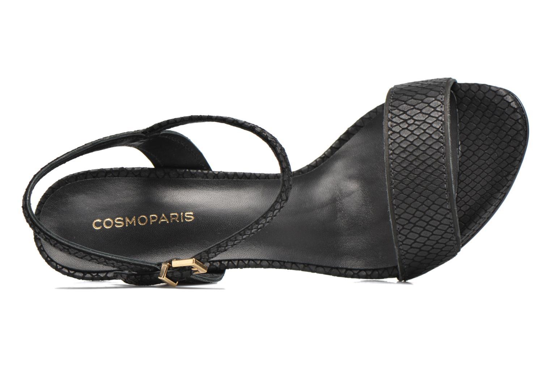 Sandales et nu-pieds COSMOPARIS Jadia/Pyt Noir vue gauche