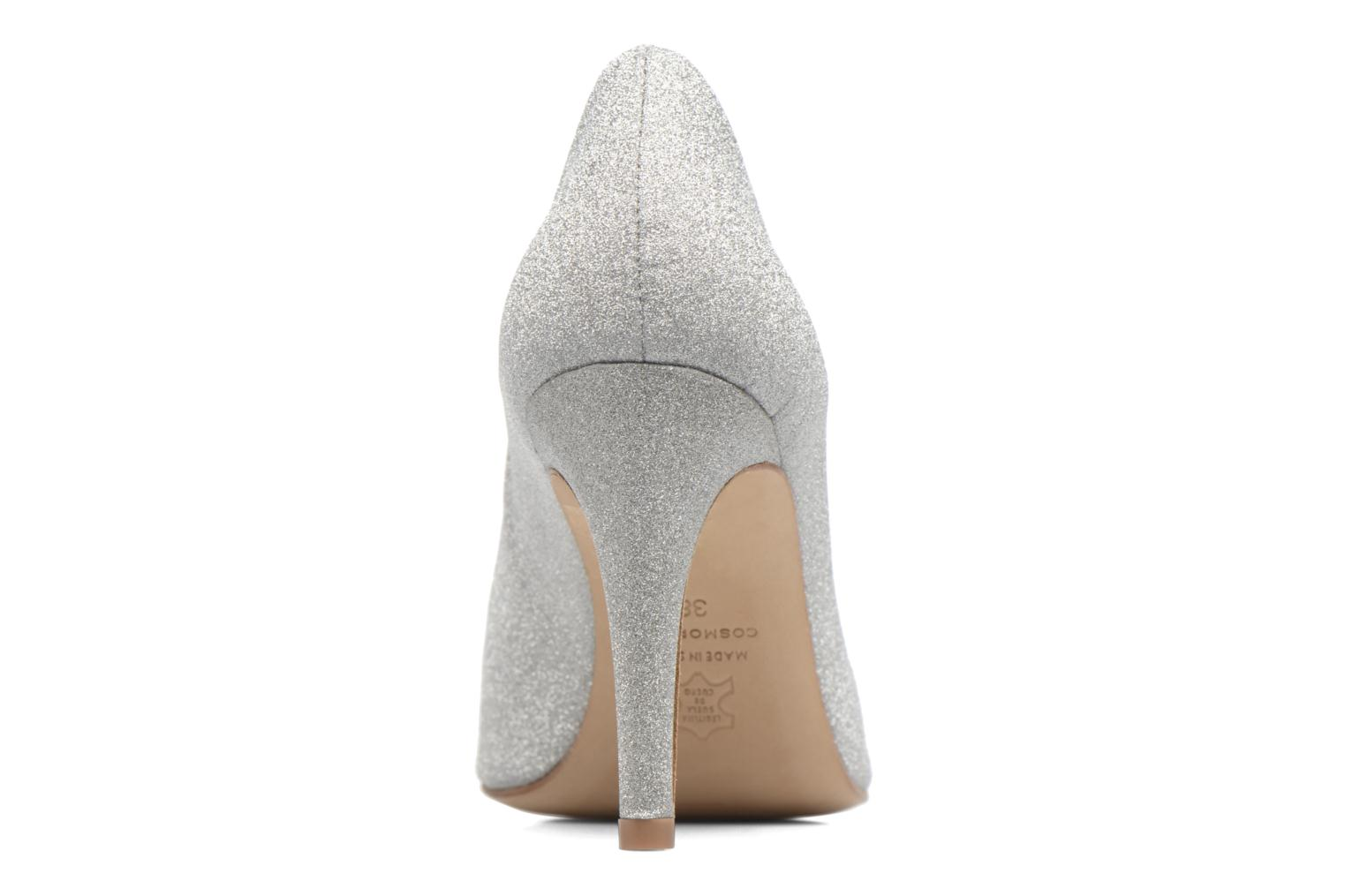 High heels COSMOPARIS Manifika/Diam Silver view from the right