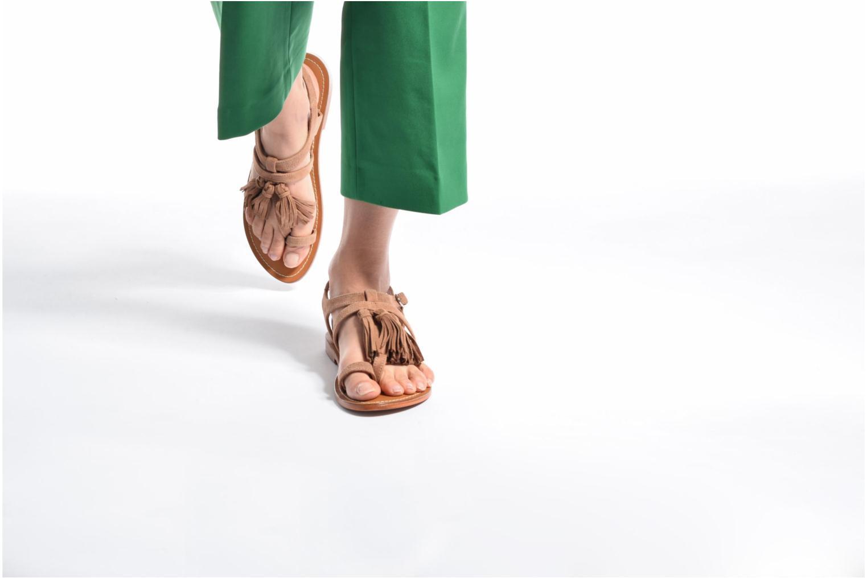 Sandales et nu-pieds L'Atelier Tropézien Martine Beige vue bas / vue portée sac
