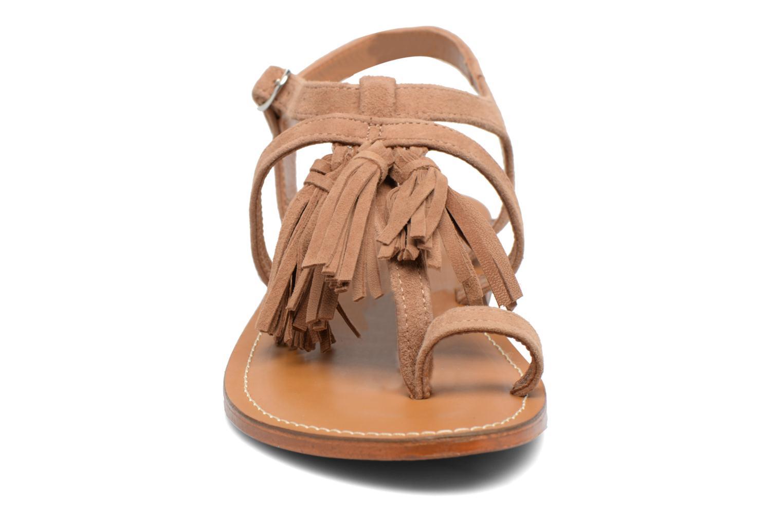 Sandales et nu-pieds L'Atelier Tropézien Martine Beige vue portées chaussures