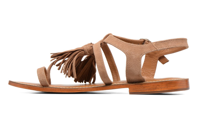 Sandales et nu-pieds L'Atelier Tropézien Martine Beige vue face
