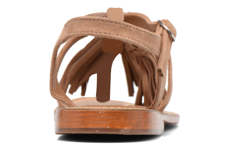 Sandales et nu-pieds L'Atelier Tropézien Martine Beige vue droite