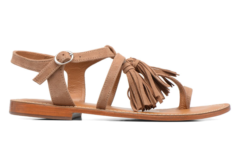 Sandales et nu-pieds L'Atelier Tropézien Martine Beige vue derrière