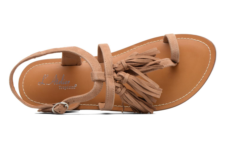Sandales et nu-pieds L'Atelier Tropézien Martine Beige vue gauche