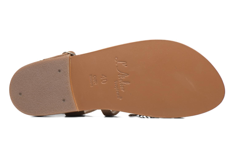 Sandales et nu-pieds L'Atelier Tropézien Martine Beige vue haut
