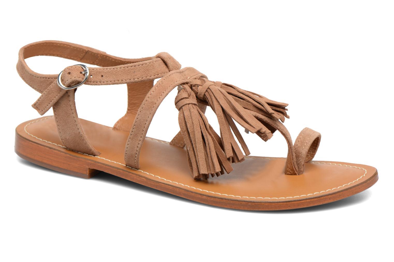 Sandales et nu-pieds L'Atelier Tropézien Martine Beige vue détail/paire