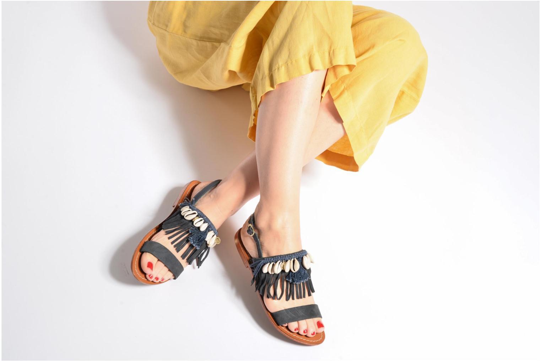 Sandali e scarpe aperte L'Atelier Tropézien Shoshana Azzurro immagine dal basso