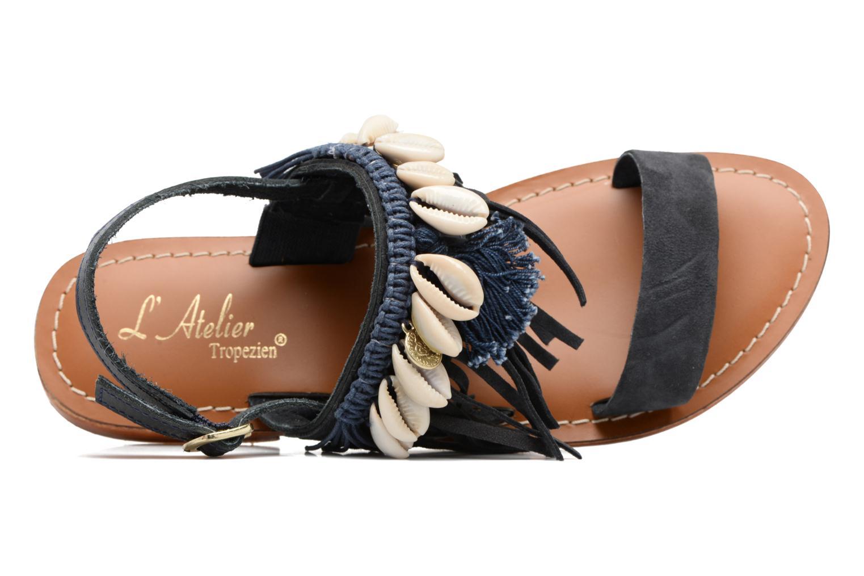 Sandali e scarpe aperte L'Atelier Tropézien Shoshana Azzurro immagine sinistra