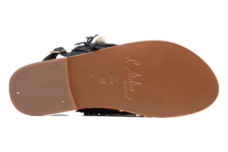 Sandali e scarpe aperte L'Atelier Tropézien Shoshana Azzurro immagine dall'alto