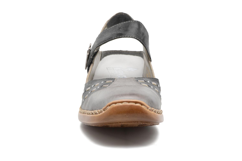 Ballerines Rieker Réa 41369 Gris vue portées chaussures
