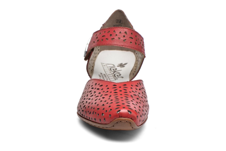 Escarpins Rieker Daam 43791 Rouge vue portées chaussures