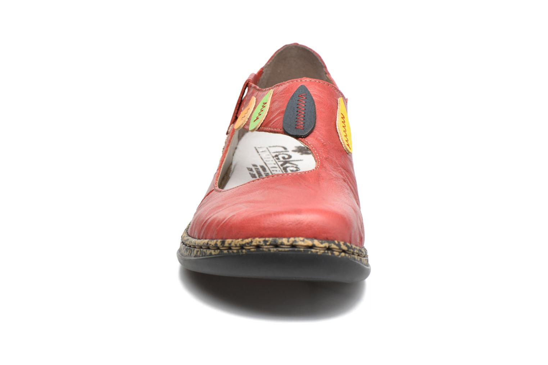 Ballerines Rieker Koen 46373 Rouge vue portées chaussures