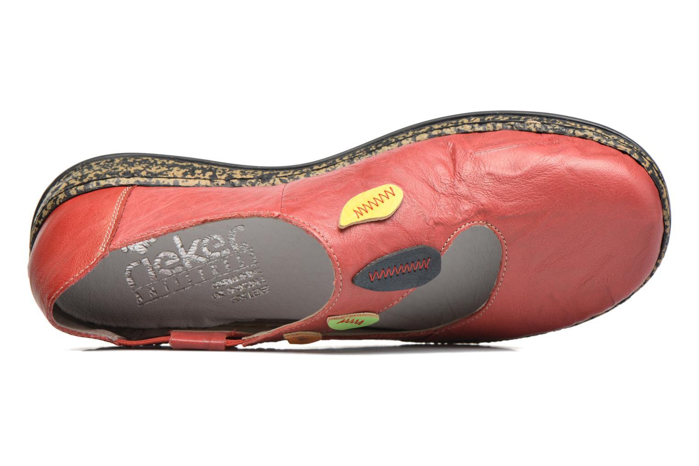 Ballerines Rieker Koen 46373 Rouge vue gauche